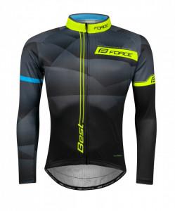 Bluza ciclism Force Best maneci lungi negru/fluo M