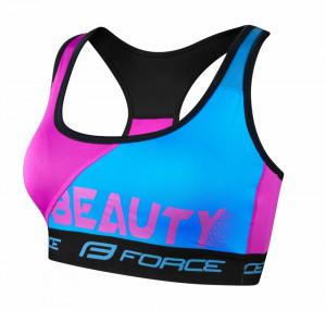 Bustiera sport Force Beauty albastru/roz L