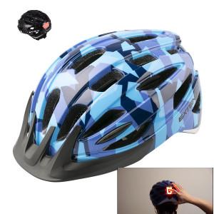 "Casca Ciclism Extend COURAGE ""Led "", S/M (51-55cm), Camouflage Albastru"