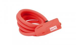 Incuietoare cablu CONTEC Neoloc 10mm*150cm - cheie Rosu