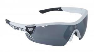 Ochelari Force Race Pro albi lentila negru laser