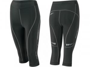 Pantaloni 3/4 Force Lady Fitness fara bazon negri M