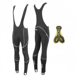 Pantaloni Force Z70 cu bretele si bazon negri XXL