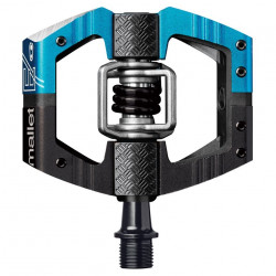 Pedale Crank Brothers Mallet E LS black, electric blue