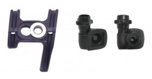 Set opritoare cablu pe cadru Shimano STI negre si ghidaj sub cadru