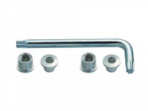 Suruburi foaie angrenaj + torx FSA CR Bolt Kit Argintiu Triplu MTB 6 buc