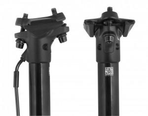 Tija de sa Force Dropp Reglabila 31.6/405mm Negru mat