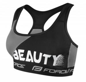 Bustiera sport Force Beauty negru/gri XS