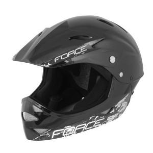 Casca Force Downhill Junior negru lucios S-M