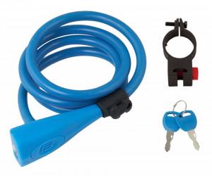 Lacat Force F Silicon 120cm/10mm Cu suport Albastru