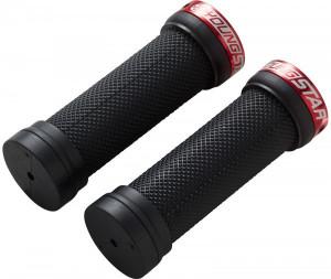 Mansoane Reverse Youngstar Lock-on 28x98mm negru/rosu
