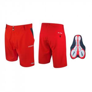 Pantaloni Force Blade MTB cu sub-pantaloni cu bazon rosu XL