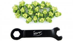 Pini pedale CONTEC R-pins Select- verde 20buc - incl. cheie