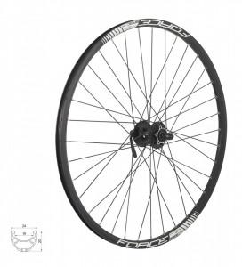 Roata fata 27.5 Force Basic Disc 584x19 neagra