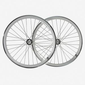 Set Roti Single Speed/Fixie SXT 700-32H 40 mm Silver