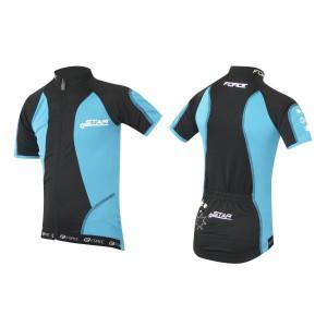 Tricou ciclism Force Kid Star 140-153 cm albastru/negru