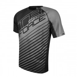 Tricou Force MTB Attack negru/gri XXXL