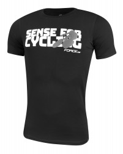 Tricou Force Sense negru print alb XS