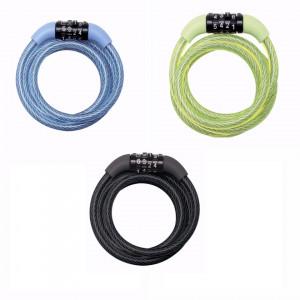 Antifurt MasterLock cablu spiralat cu cifru 1.20m x 8mm Albastru