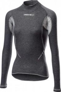 Bluza de corp cu maneca lunga Castelli Flanders 2W Warm, de dama, Gri, L