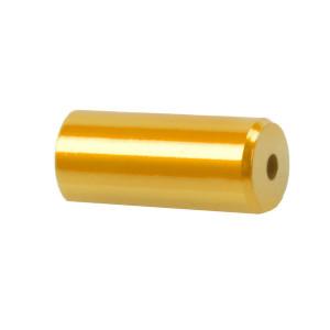 Capete Manta CNC 5,1x12 mm M-WAVE Aluminiu Gold/Orange Anodizat
