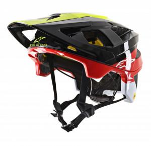 Casca Alpinestars vector tech Pilot Negru/Galben/Rosu L