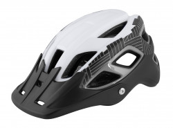 Casca Force Aves MTB E-bike, Alb-Negru Mat L-XL