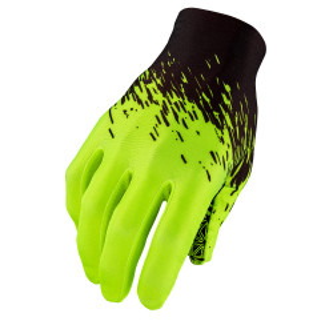 Manusi cu degete SUPACAZ SupaG - negru / galben neon - S