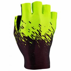 Manusi fara degete SUPACAZ SupaG -negru / galben neon - XL