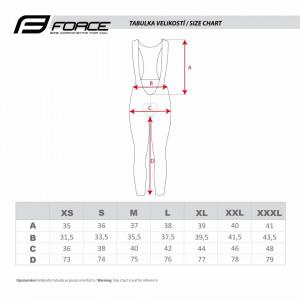 Pantaloni Force F58 cu bretele si bazon Negru-Gri M