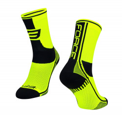 Sosete Force Long Plus fluo/negru XS