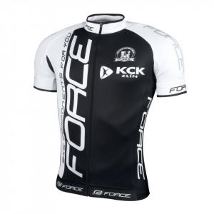 Tricou Force Team maneci scurte negru/alb L