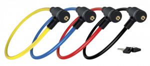 Antifurt Master Lock cablu cu cheie 650x8mm Rosu