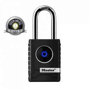 Antifurt MasterLock lacat inteligent cu Bluetooth 56cm Negru