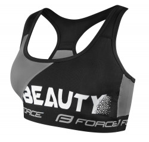 Bustiera sport Force Beauty negru/gri S