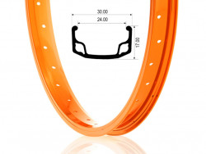 "Janta BMX 20""-36H Orange"