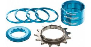 Kit single speed Reverse 13T albastru deschis