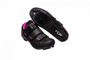 Pantofi ciclism FLR F-35 III Pro Road - Negru/Roz 39