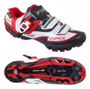 Pantofi Force MTB Carbon Devil alb/rosu 43