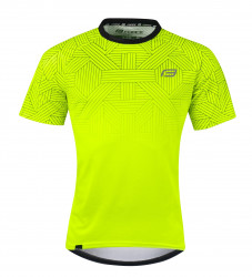 Tricou ciclism Force City Fluo/negru L