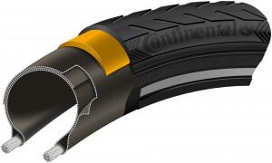 Anvelopa Continental Ride Classic Reflex EXTRA PunctureBelt 42-622 (28*1.6) negru/negru