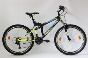 Bicicleta Sprint Element VB 26 2021 Negru/Verde Neon Mat 460 mm