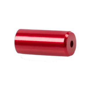 Capete Manta CNC 5,1x12 mm M-WAVE Aluminiu Rosu Anodizat