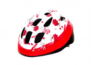 Casca copii HEADGY Ladybird alb/roz XS(46-53cm)