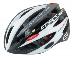 Casca FORCE ROAD junior, negru-alb-gri, XS - S