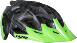 CASCA LAZER ULTRAX+ MATTE BLACK CAMO FLASH GREEN (M) (17)