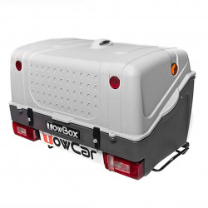 Cutie portbagaj pe carligul de remorcare Towbox V1 Gri