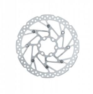 Disc frana Force-5 160 mm 6 gauri argintiu