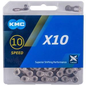 Lant KMC X10 Silver/Negru- 114 Z