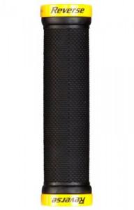 Mansoane Reverse Lock-On 29mm negru/galben